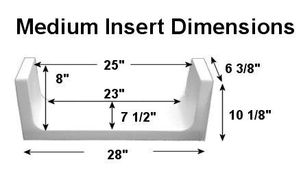 Medium tub to shower kit