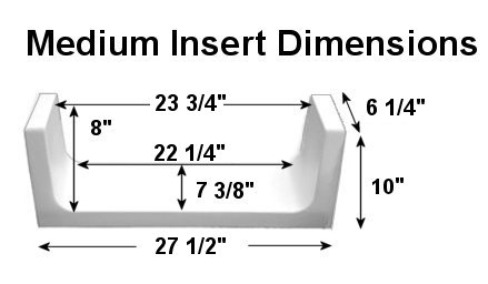 Image of medium tub to shower kit for tub conversion including specific measurements and dimensions