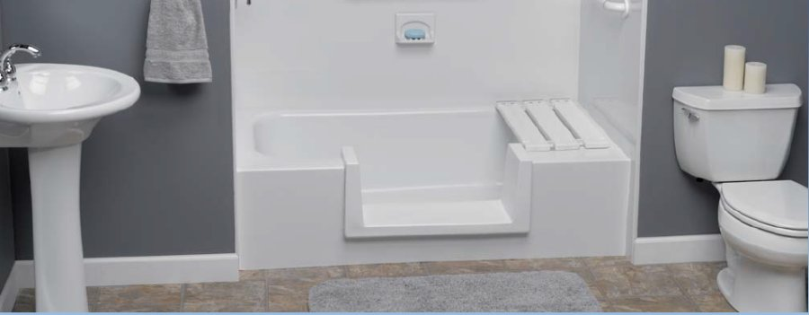 Step Through Tub Insert, Walk in Tub Access, Handicap accessible tub
