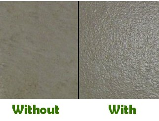 Image showing floor sample before and after slip resistant application is applied