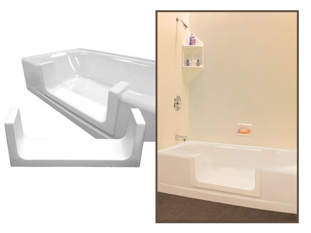 Step Through Insert for walk through tub shower conversions
