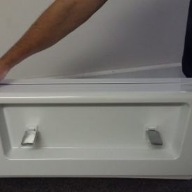 Tub Conversion Cover in Place