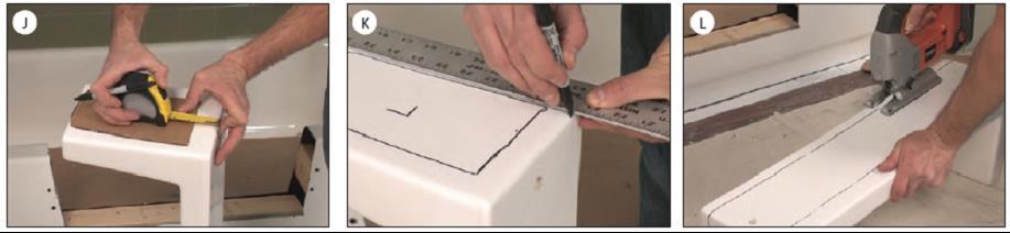 Tub to Shower Conversion Installation steps JKL