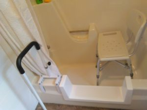 Image sent with customer testimonials showing a step through kit installed by a happy homeowner