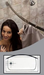 Curved Shower Rod Displayed